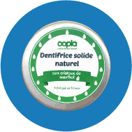 1 dentifrice solide naturel à la menthe